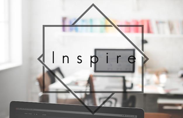 Inspire aspiration inove o conceito de imaginação de motivação