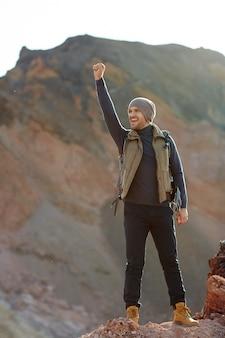 Inspired hiker