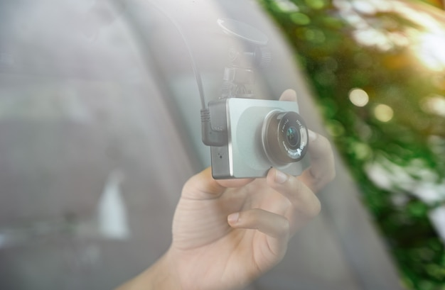 Instalação da câmera no carro