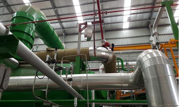 Instalação de isolamento de tubo de vapor para turbina a vapor de usina