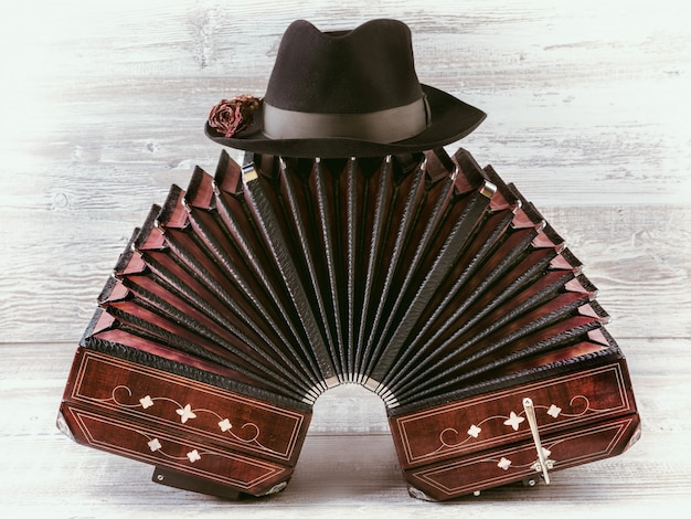 Instrumento de tango bandoneon