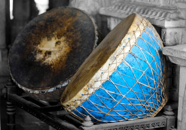 Instrumento musical indiana vintage nagada dhol