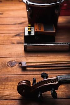 Instrumentos musicais de close-up