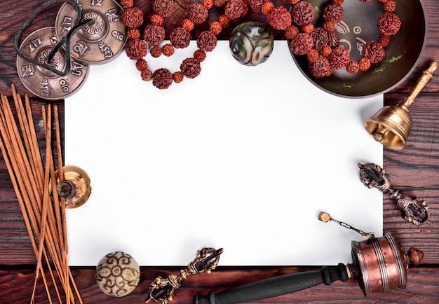 Instrumentos musicais tibetanos para meditação e relaxamento
