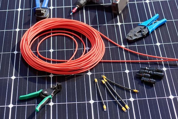Instrumentos para instalação de sistema solar