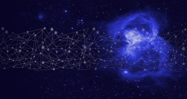 Inteligência artificial ai. banco de dados global e inteligência artificial. tecnologia de mineração de dados em um painel virtual. tecnologia de realidade virtual ou inteligência artificial.