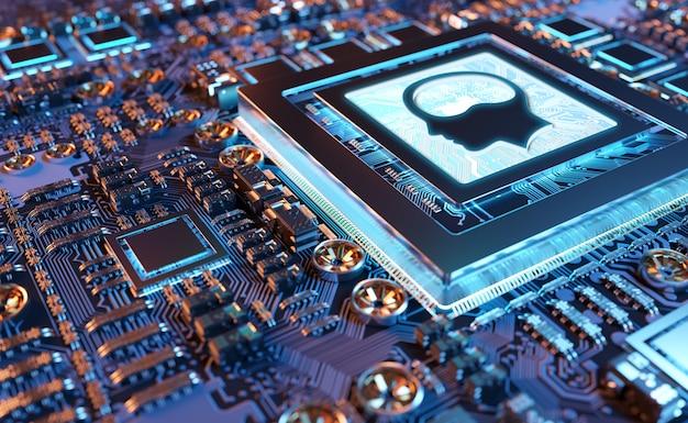Inteligência artificial em um cartão gpu moderno