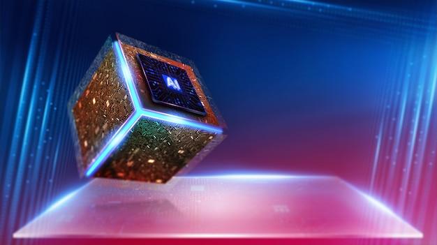Inteligência artificial. (ia), aprendizado de máquina, tecnologia e conceito de engenharia.