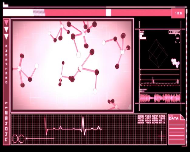 Interface das células da molécula rosa