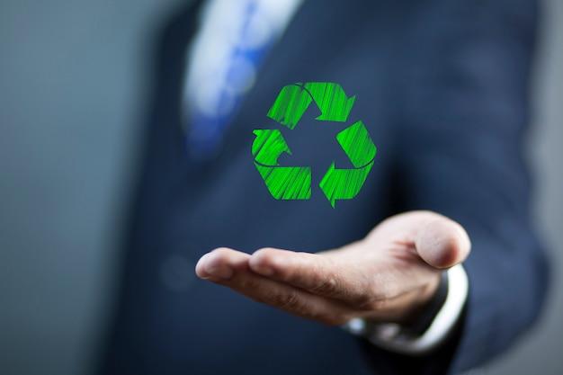 Interface ecológica com ícone
