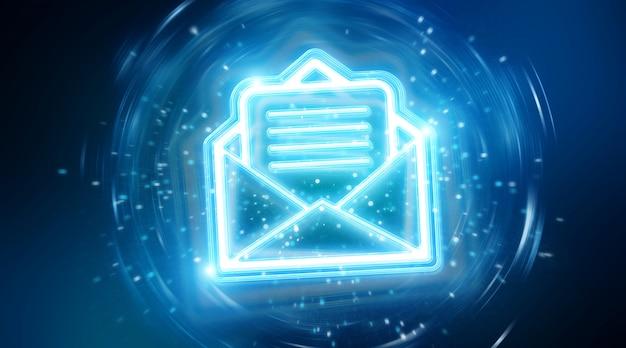 Interface holográfica de email digital