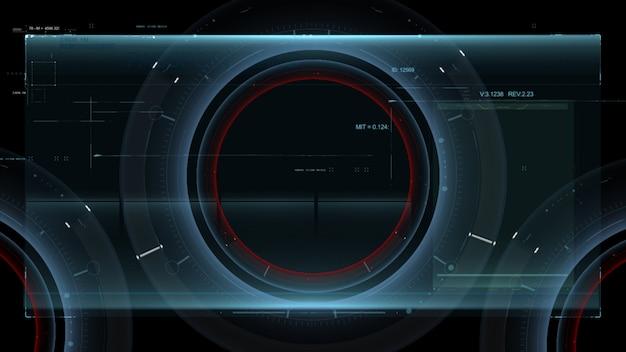 Interface hud. projeto de ilustração.