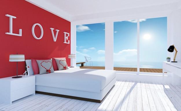 Interior amoroso moderno e minimalista