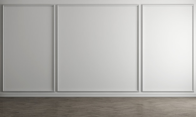 Interior branco da sala de estar vazia com mesa de chá