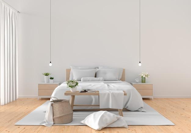 Interior branco do quarto