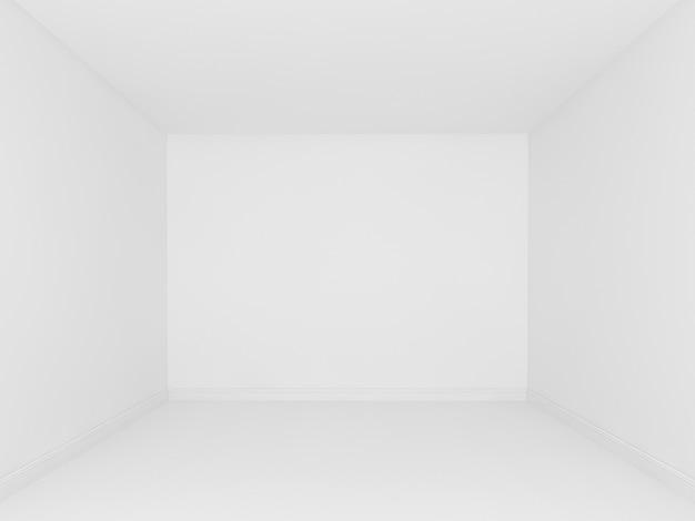Interior branco vazio de room3d