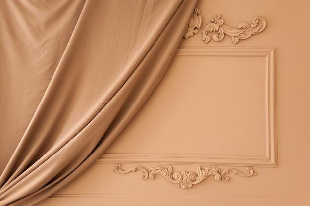 Interior clássico bege. fotostudio leve.