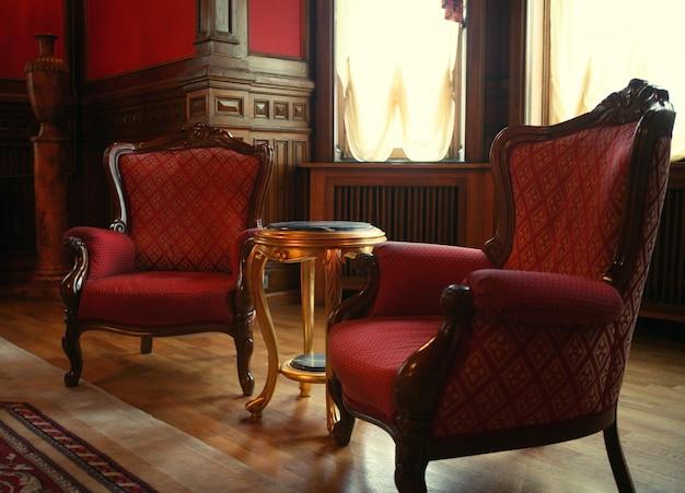 Interior clássico no hotel