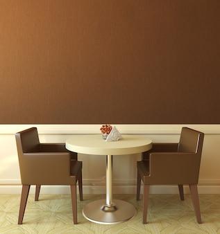 Interior da moderna casa de café. renderização 3d.