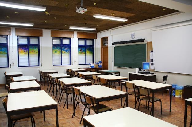 Interior da sala de aula secundária