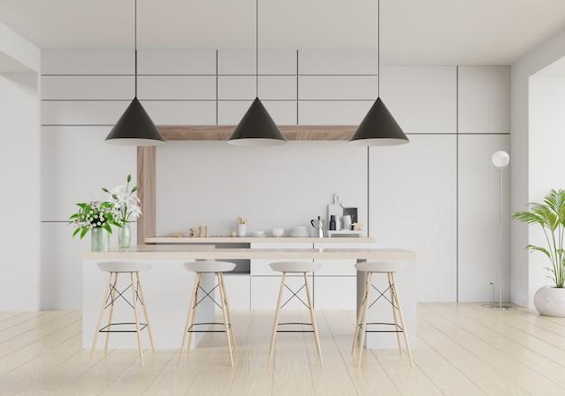 Interior da sala de cozinha moderna