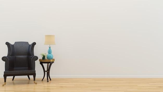 Interior da sala de estar em casa vazia