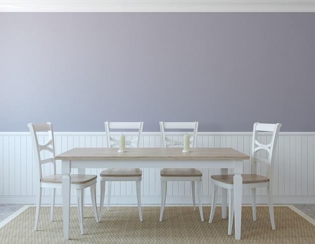 Interior da sala de jantar. renderização 3d.