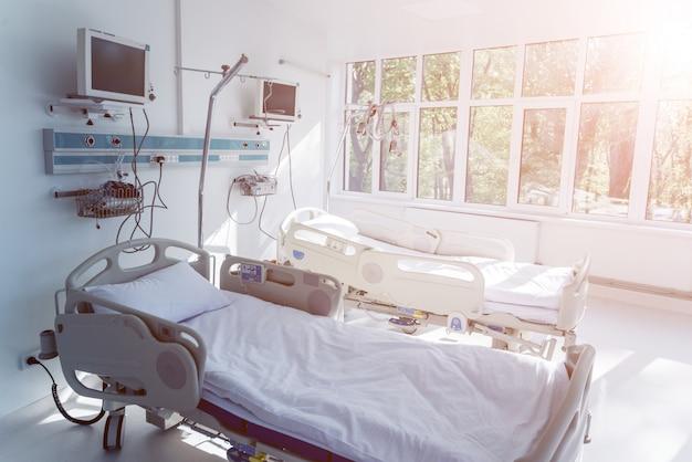 Interior da sala de reanimação na clínica moderna