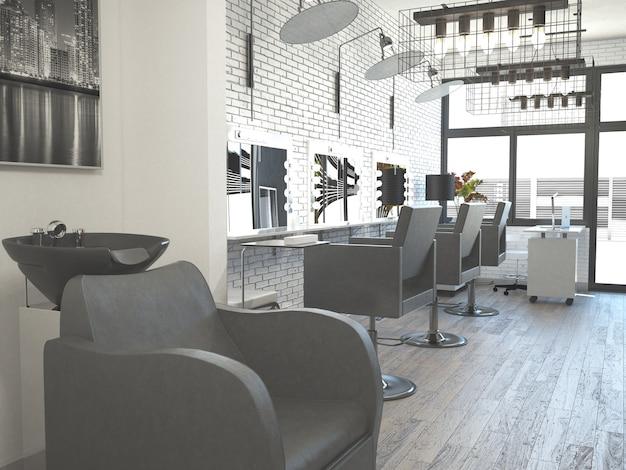 Interior de cabeleireiro estilo salão