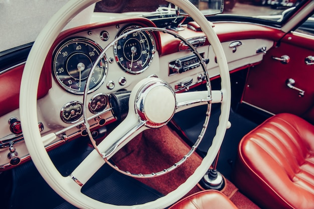 Interior de carro de luxo