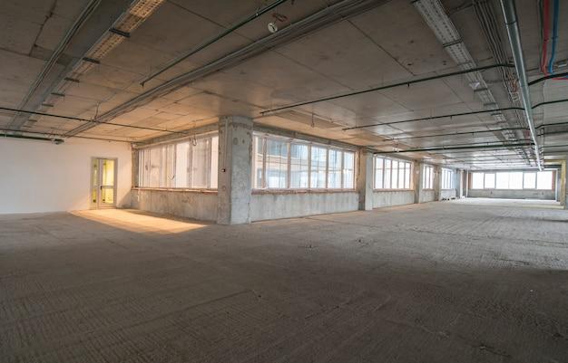 Interior, de, centro negócio, construção
