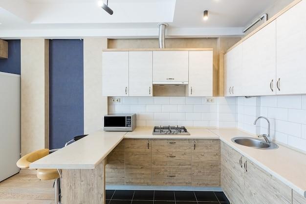 Interior de cozinha de estilo moderno