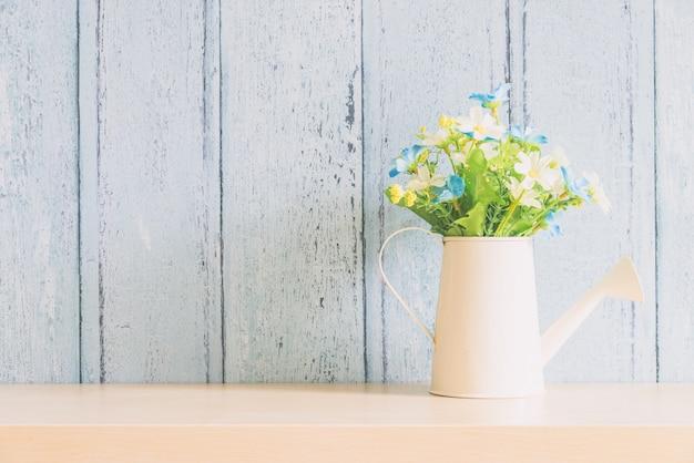 Interior de decoração de flor de vaso