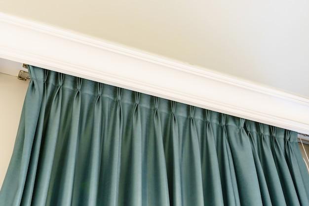 Interior de decoração de janela de cortinas do quarto