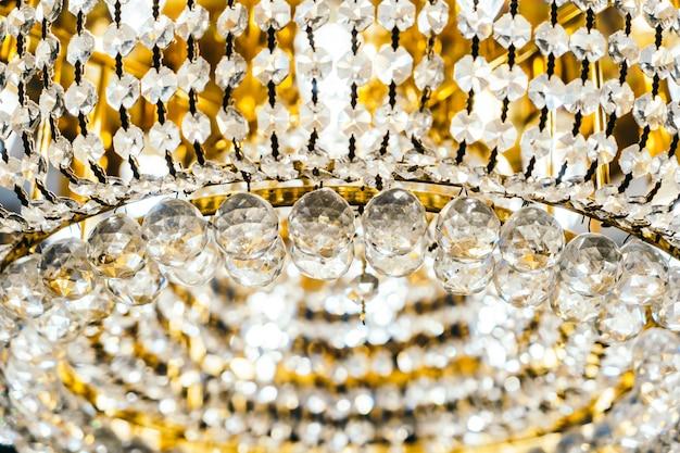 Interior de decoração de lustre de cristal de luxo bonito