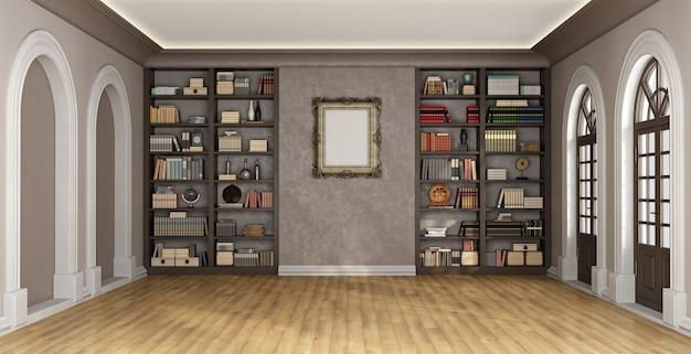 Interior de luxo com estante