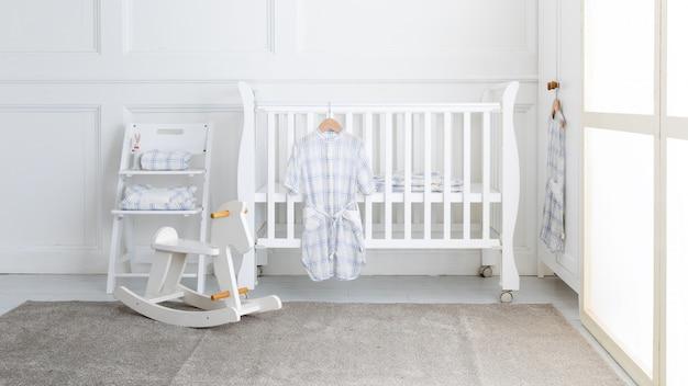 Interior, de, modernos, bebê, sala