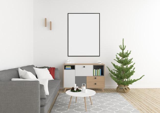 Interior de natal - fundo de arte de parede de natal - quadro vertical