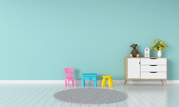 Interior de quarto de criança para maquete