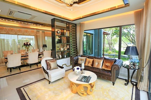 Interior de quarto de luxo vivo