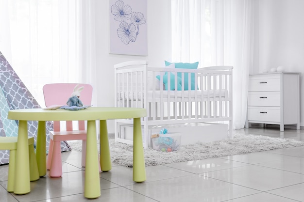 Interior de quarto infantil elegante