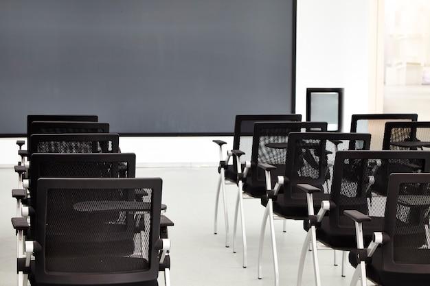Interior, de, um, modernos, sala conferência