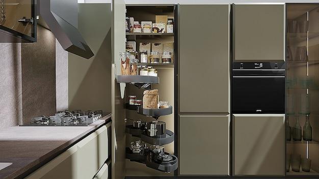 Interior de um projeto de cozinha