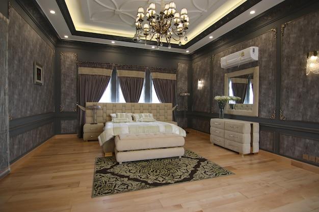 Interior de um quarto elegante e clássico