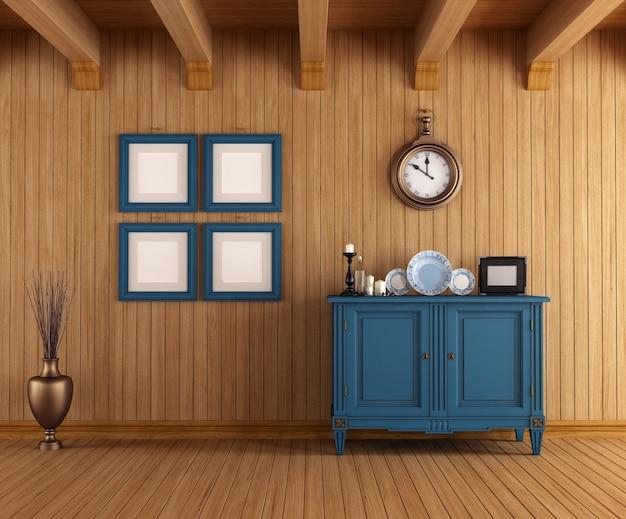 Interior de uma casa de campo