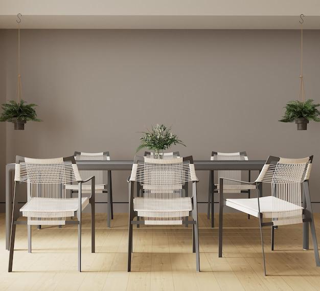 Interior de uma sala de jantar