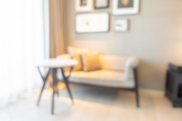 Interior desfocado da sala de estar