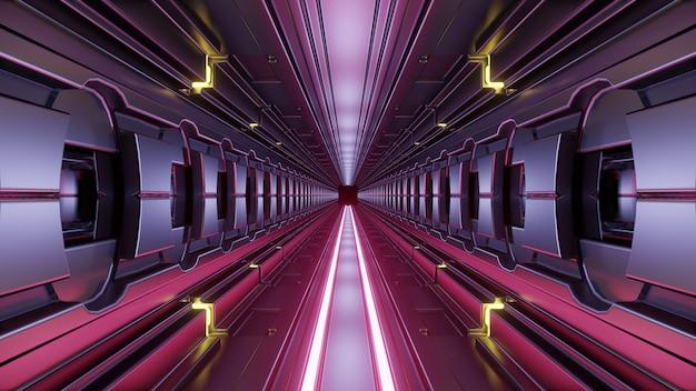 Interior do corredor abstrato ilustração 4k uhd 3d
