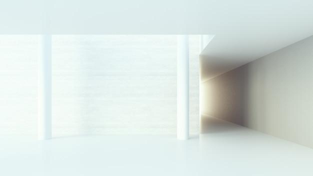 Interior do corredor / renderização em 3d