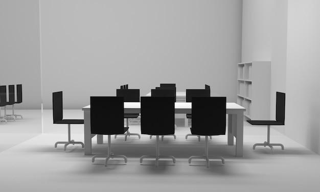 Interior do escritório. ilustração 3d.